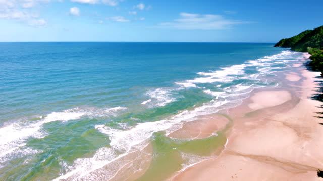 aerial beach - coastline stock videos & royalty-free footage