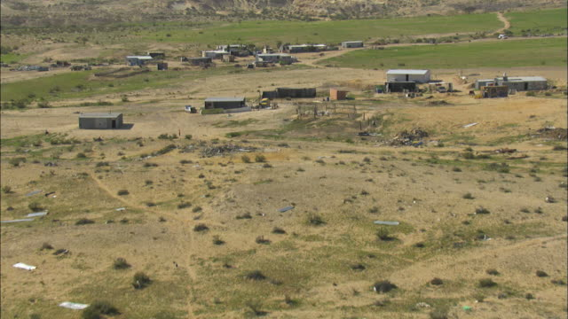 aerial bedouin village, negev, israel - negev stock videos & royalty-free footage
