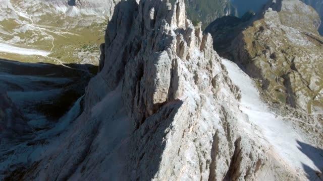 aerial big rocky mountains - slovenia stock videos & royalty-free footage