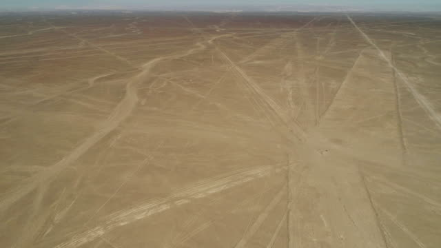aerial birds view of historical nazca lines in the desert - pan american highway stock videos & royalty-free footage
