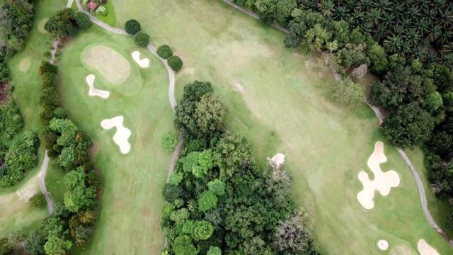 aerial birdseye view of pulai golf resort in skudai johor malaysia - johor stock videos & royalty-free footage