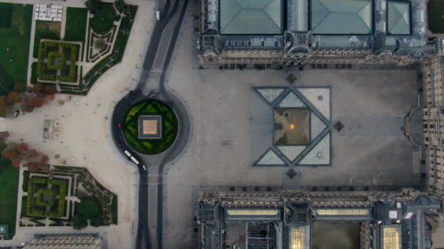 Aerial Bird's-Eye View: The Louvre and Tuileries Garden in Paris, France