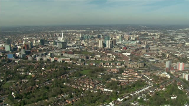 """aerial birmingham that has tougher coronavirus lockdown restrictions due to a rise in cases - """"bbc news"""" stock videos & royalty-free footage"""