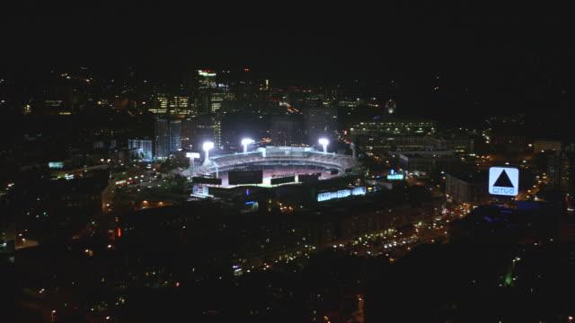aerial boston fenway park, night - floodlight stock videos & royalty-free footage