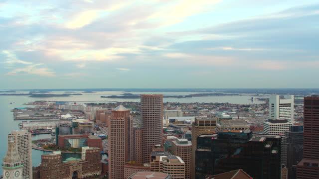 aerial boston skyline - back bay boston stock videos & royalty-free footage