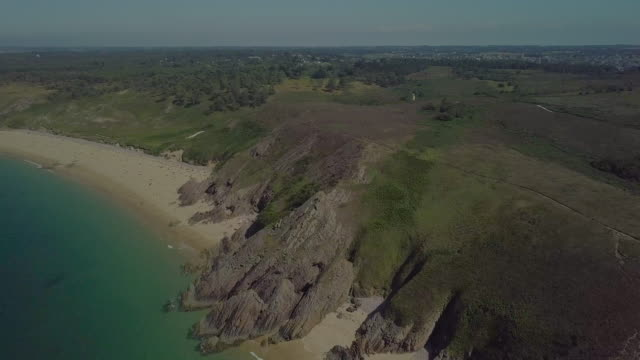 aerial breton coast - atlantic ocean stock videos & royalty-free footage