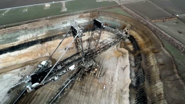 Aerial brown coal mining
