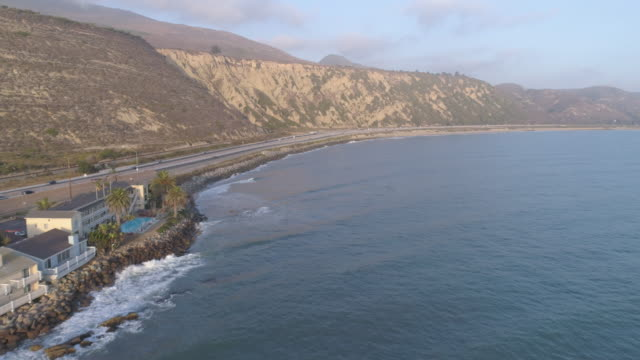 aerial california coast freeway - santa barbara california stock videos and b-roll footage