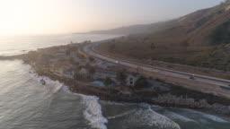 Aerial California Coast