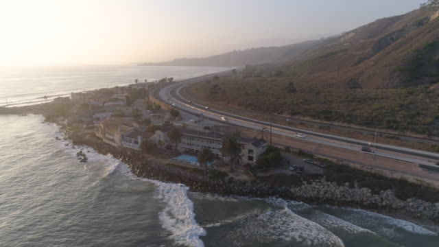 aerial california coast - coastline stock videos & royalty-free footage