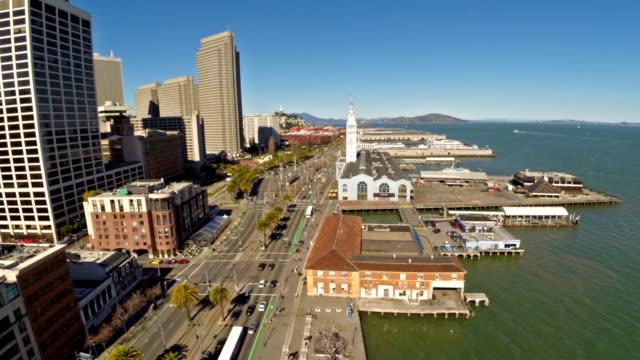 aerial california san francisco - pier 39 san francisco stock videos & royalty-free footage