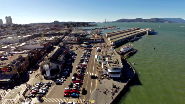 stockvideo's en b-roll-footage met aerial california san francisco - pier