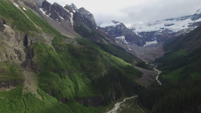 4k aerial canada: canadian rocky mountain - banff stock videos & royalty-free footage