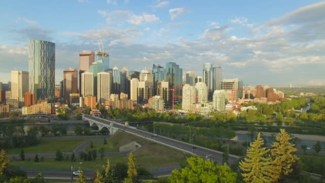 4K Aerial Canada:  Downtown Calgary