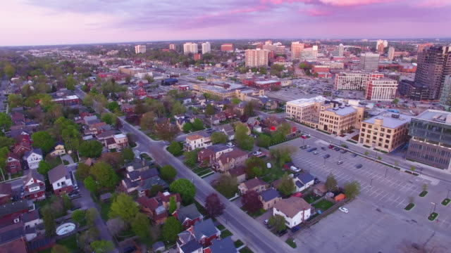 4K Aerial Canada: Google Canada Headquarter in Kitchener Downtown