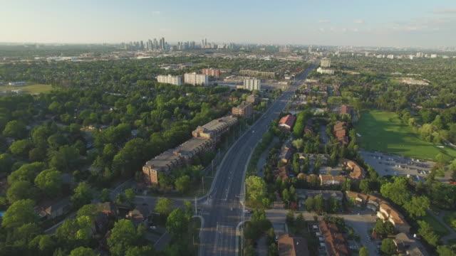 4K Aerial Canada: Mississauga Cityscape