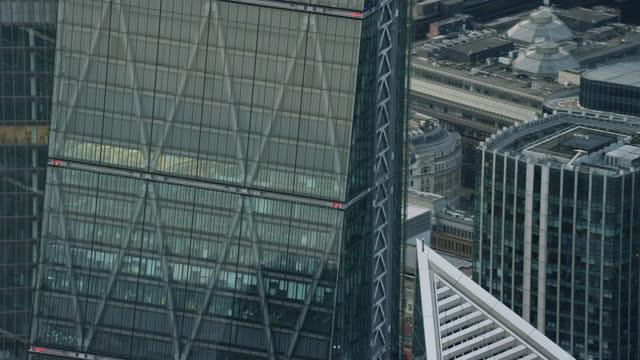 aerial canary wharf financial district london coronavirus lockdown - finance stock videos & royalty-free footage