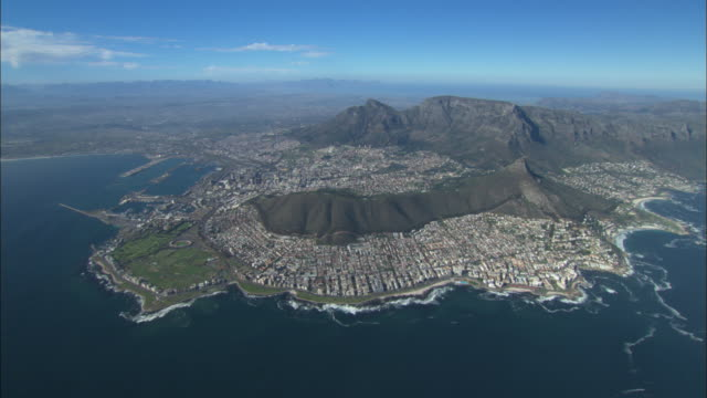 Aerial, Cape Town, Greater Cape Town, south view, wide. South Africa
