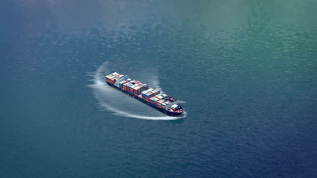 aerial cargo ship - anchored stock videos & royalty-free footage
