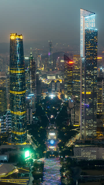 aerial centerline view in guangzhou - liyao xie stock videos & royalty-free footage