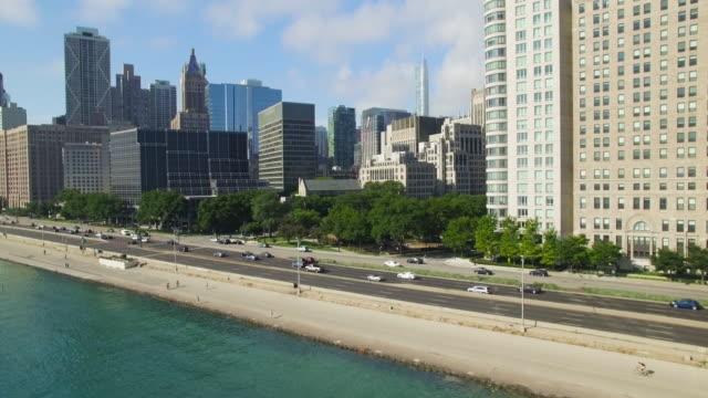 4K Aerial Chicago: Fly Along North Lake Shore Drive