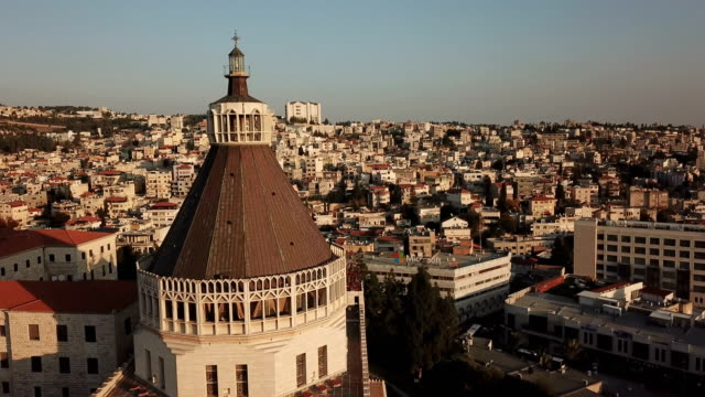 Aerial, church of the Annunciation, Nazareth, Israel