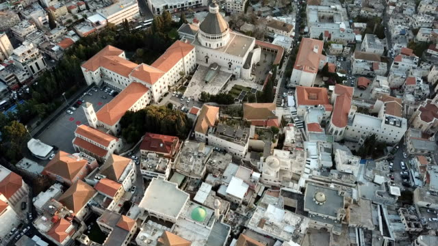 Aerial, church of the Annunciation,St. Joseph?s Church, Nazareth, Israel
