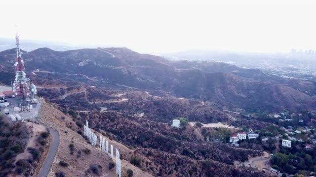Aerial Circling Behing the Hollywood Sign
