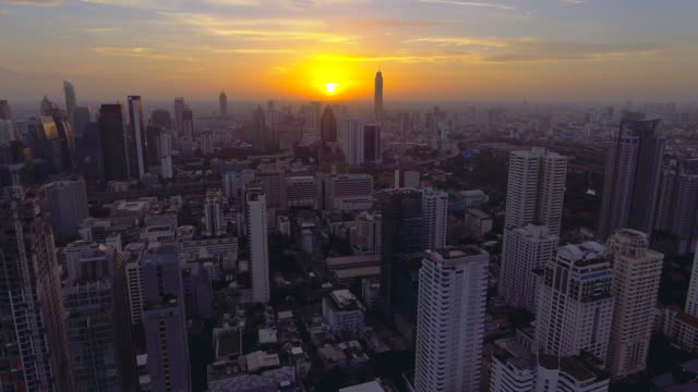 aerial city at sunset - southeast asia stock videos & royalty-free footage