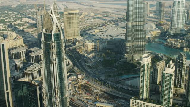 Aerial City Burj Khalifa Skyscraper Shopping Mall UAE