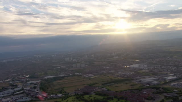 aerial city of glasgow - horizon over land stock videos & royalty-free footage