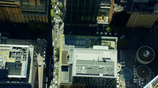 aerial city skyscraper vertical view of sydney australia - aerial transport building stock videos & royalty-free footage