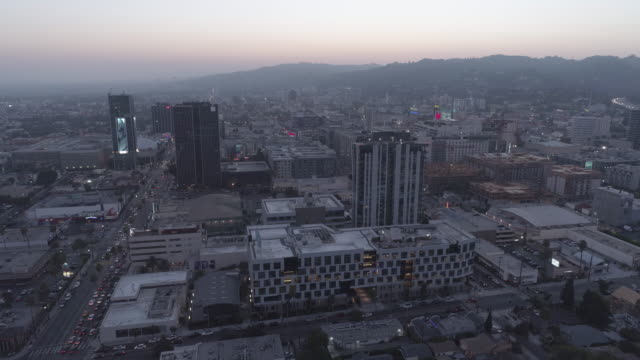 aerial cityscape hollywood, los angeles - helicopter landing pads stock videos and b-roll footage