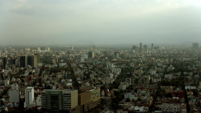 aerial cityscape in mexico city - 北半球点の映像素材/bロール