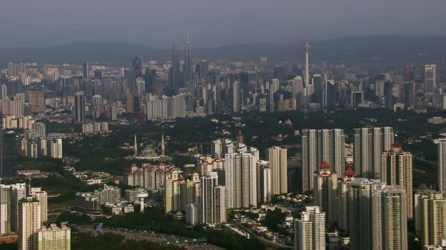 Aerial Cityscape Of Kuala Lumpur