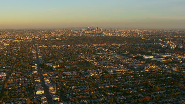 Aerial Cityscape Of Los Angeles CA