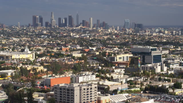 Aerial Cityscape of Los Angeles, California