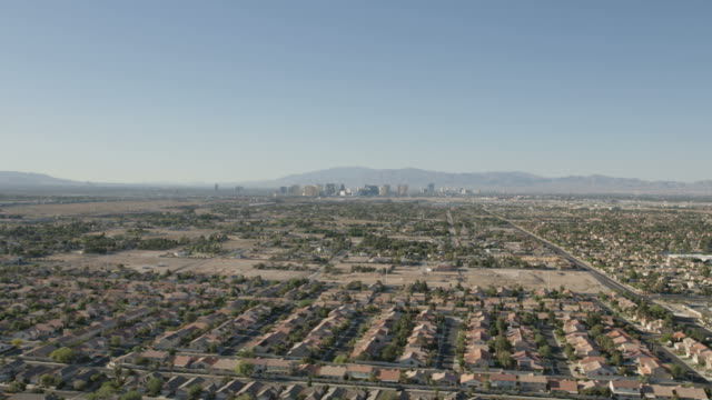 aerial cityscape view of henderson city las vegas - nevada stock videos & royalty-free footage