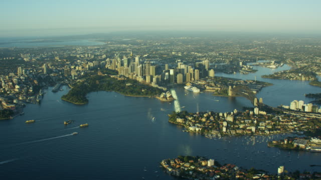 Aerial cityscape view of Sydney Australia