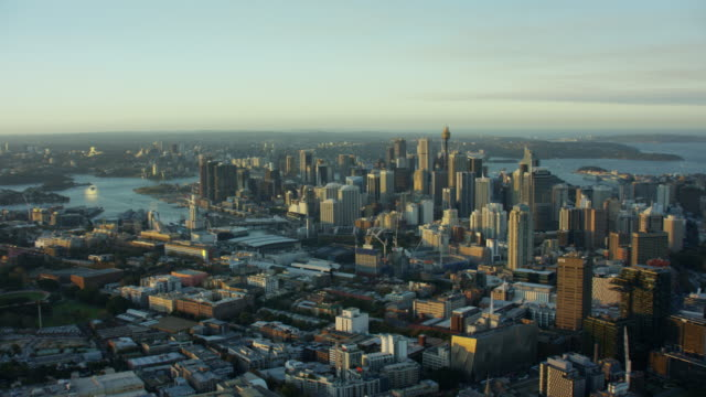 Aerial cityscape view of Sydney Australia