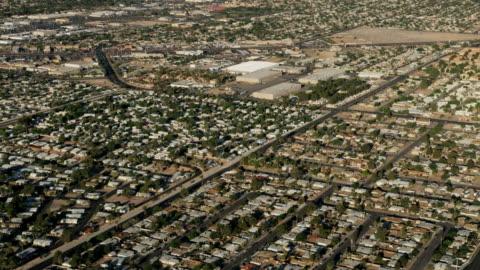 aerial cityscape view suburban desert homes las vegas - nevada stock videos & royalty-free footage
