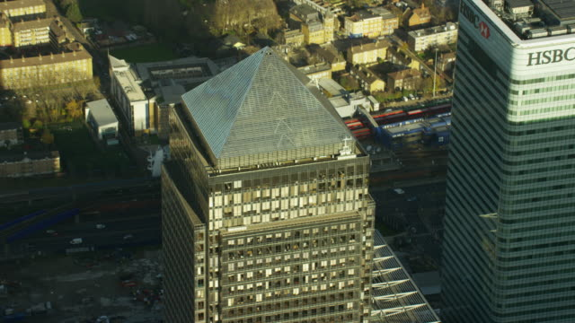 aerial close up view of modern architecture london - skyscraper stock videos & royalty-free footage