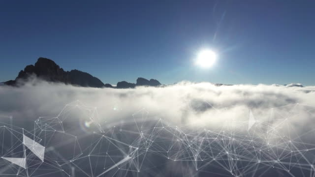 aerial cloud-computing - cloud computing stock-videos und b-roll-filmmaterial