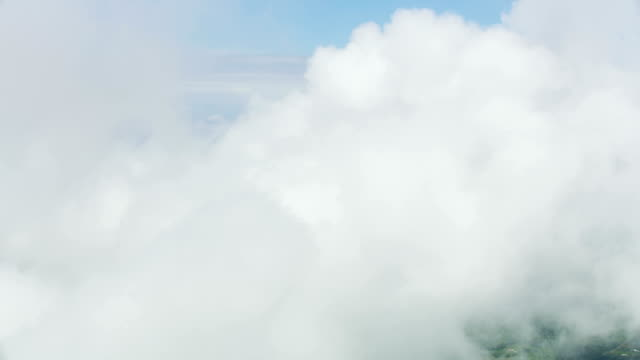 aerial cloudscape sky view natural light silence freedom - cumulus cloud stock videos & royalty-free footage