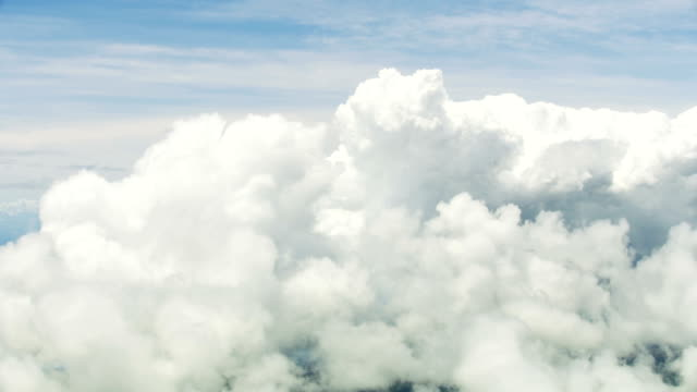 stockvideo's en b-roll-footage met aerial cloudscape view of textured sky natural light - gewone snelheid
