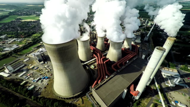 Aerial Coal Fired Power Station
