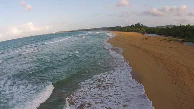 aerial coastline tracking - puerto rico stock videos and b-roll footage