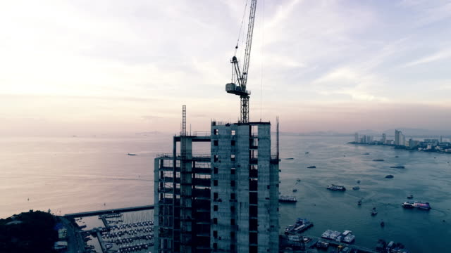 aerial construction site - construction industry stock videos & royalty-free footage