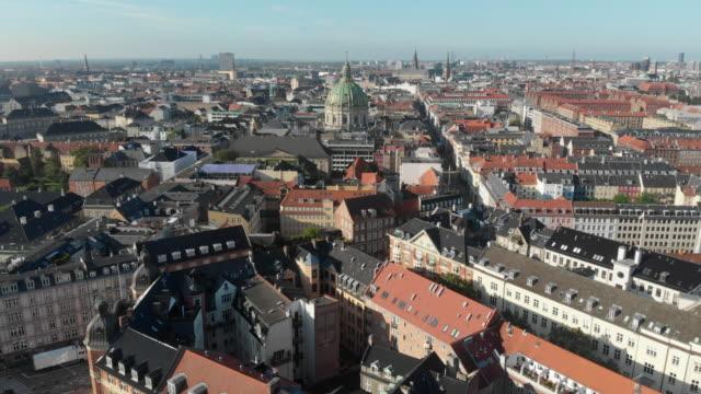 4k aerial copenhagen - copenhagen stock videos & royalty-free footage