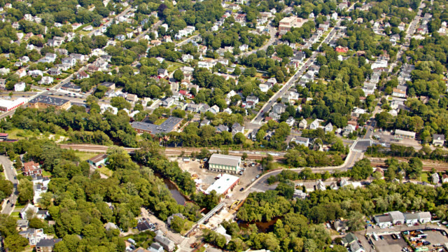 aerial country. many homes and residential district. - massachusetts stock videos & royalty-free footage